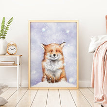 Load image into Gallery viewer, winter fox wall art
