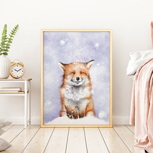 winter fox wall art