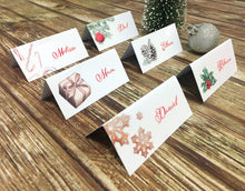 Load image into Gallery viewer, Printable Christmas Place Cards