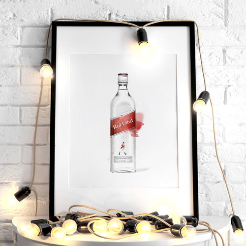 Johnnie Walker Red Label – Art Print
