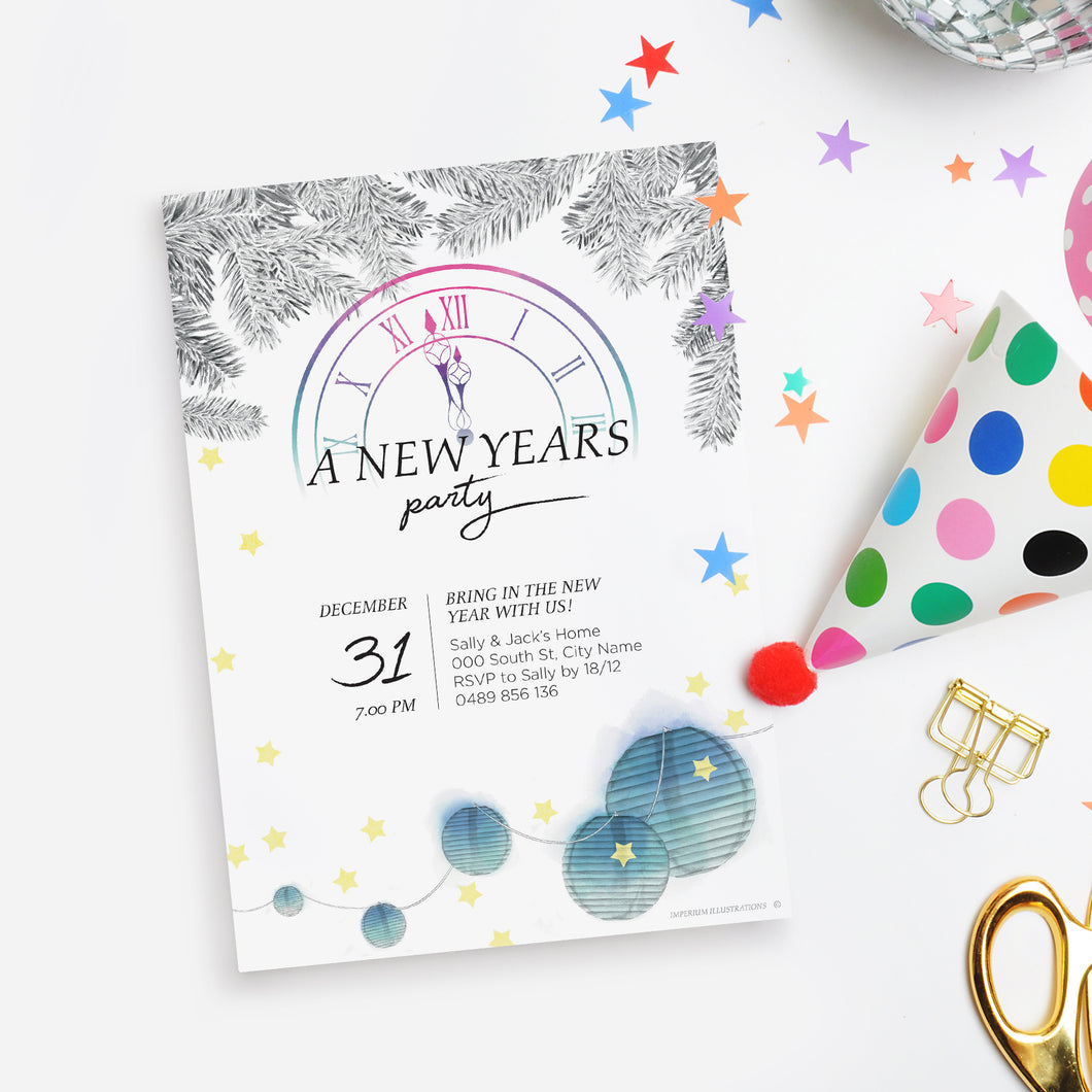 New Year's Eve Printable Invitation