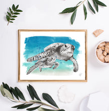 Load image into Gallery viewer, sea turtle wall art