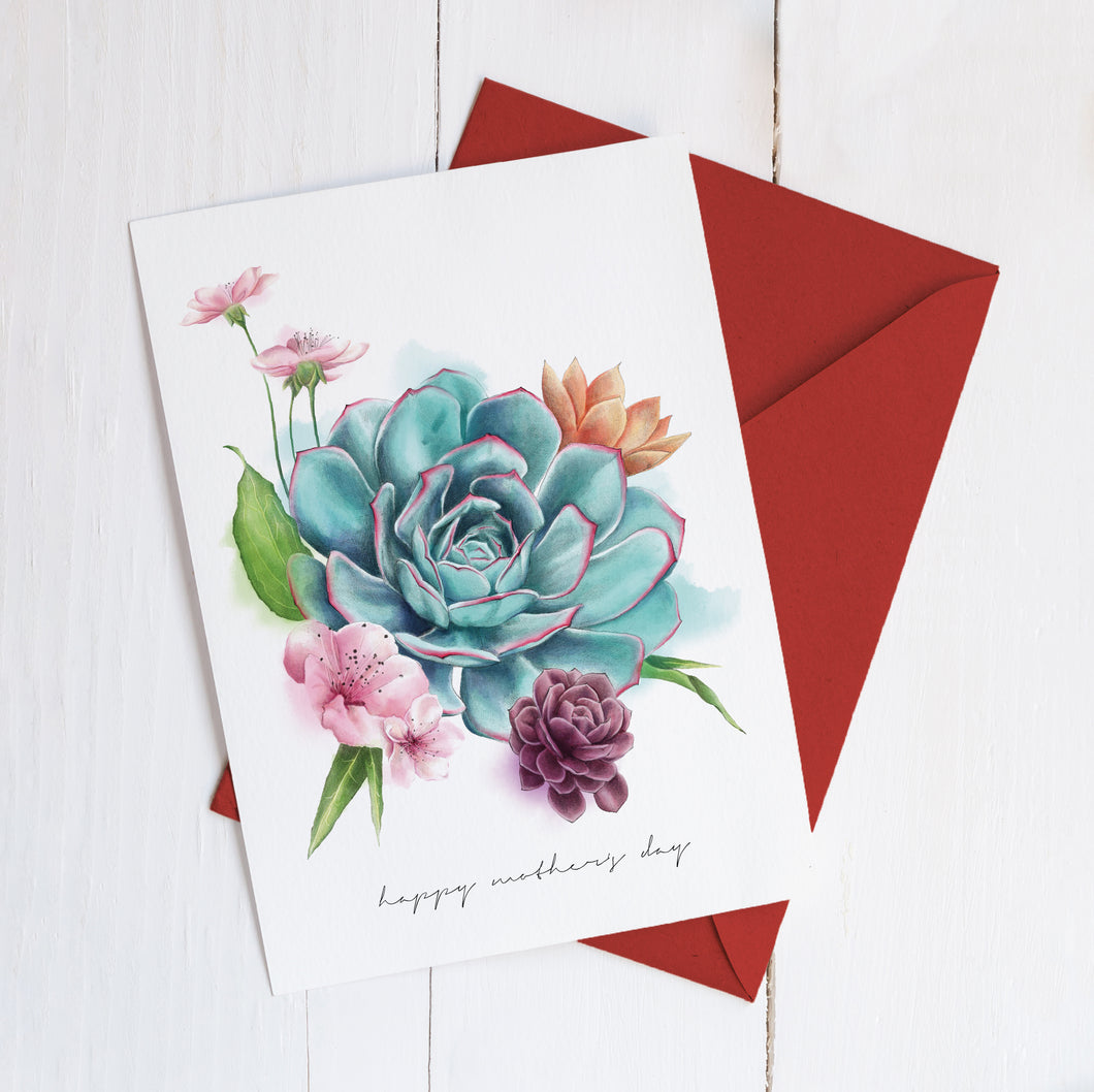 Happy Mother's Day Succulents Imperium Illustrations greeting card