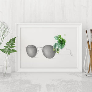 Sunglasses with Monstera framed