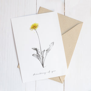 Thinking Of You Dandelion  – C6 Greeting Card