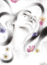 Load image into Gallery viewer, Tranquility flowers watercolour by Imperium Illustrations