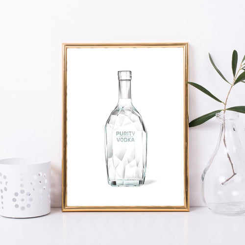 Vodka Crystal Bottle Art Print