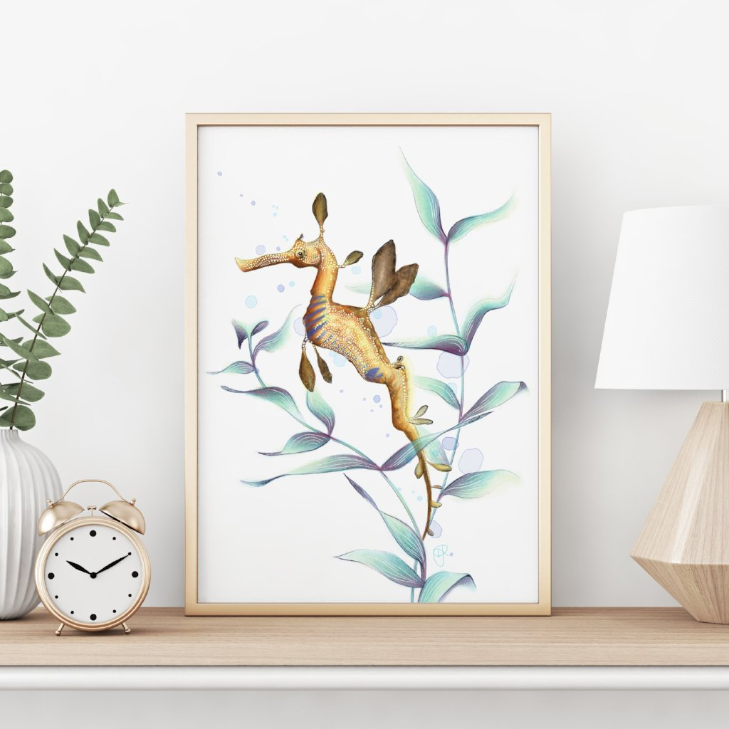 Weedy Seadragon Art Print