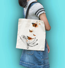 Load image into Gallery viewer, butterflies tot bag