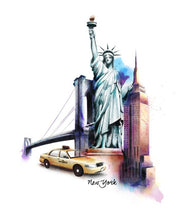 Load image into Gallery viewer, Statue of liberty illustration