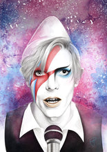 Load image into Gallery viewer, The Many Faces of David Bowie – Art Print