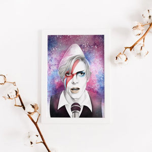 The Many Faces of David Bowie – Art Print