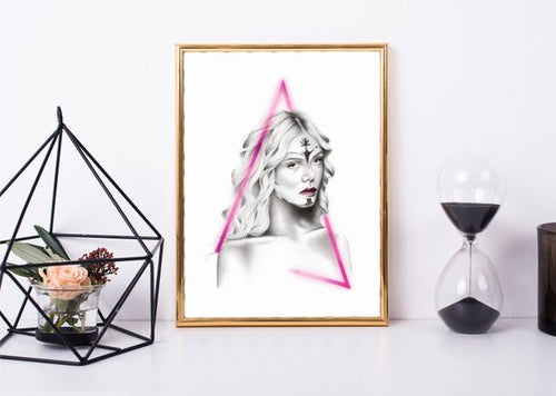 Elle Neon Demon – Art Print