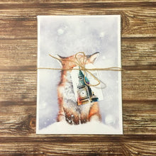 Load image into Gallery viewer, Winter Fox Art Print