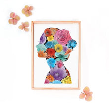 Load image into Gallery viewer, Feminine Floral Silhouette Print