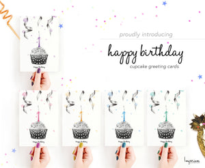Happy Birthday Cupcake – C6 Greeting Card Pack