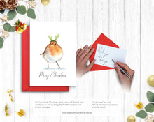 Load image into Gallery viewer, Merry Christmas Robin – C6 Christmas Card