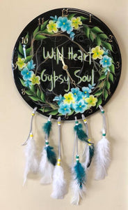 Gypsy Soul Dream Catcher Clock