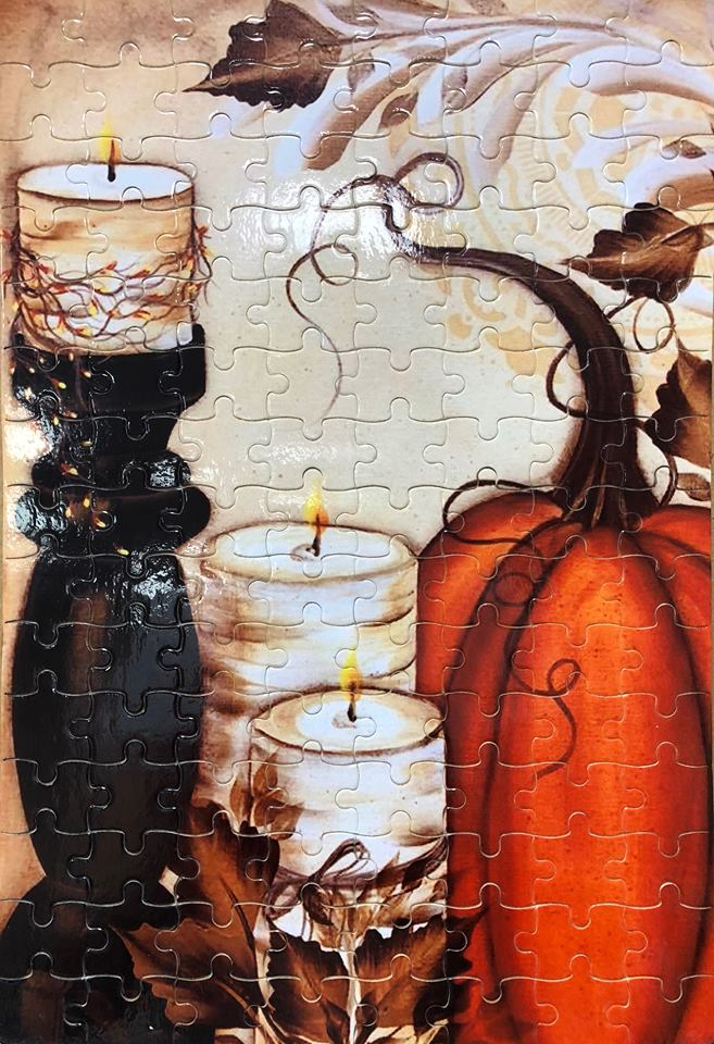 Pumpkin and candles Puzzle