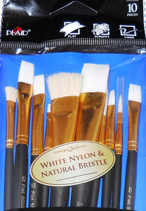 FA 10 PIECE GLASS BRUSHES