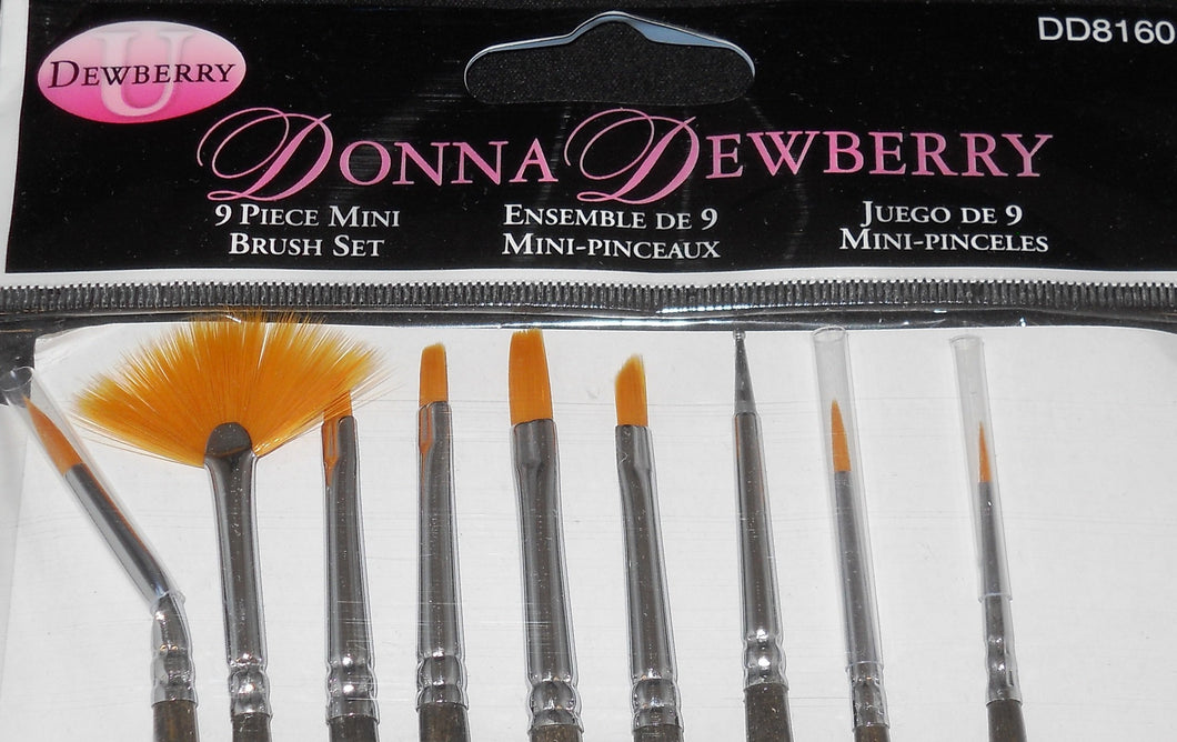 DD 9 PIECE MINI BRUSHES