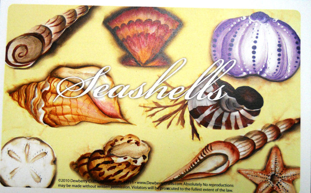 SEASHELLS Recipe Cards