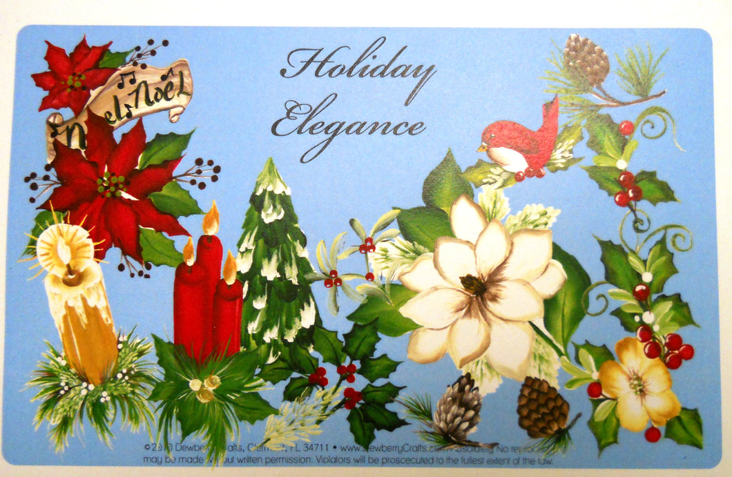 HOLIDAY ELEGANCE recipe card