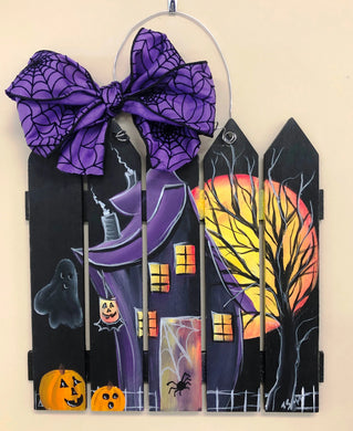 Haunted House Fence Wall decor