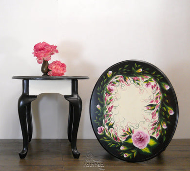 Hand Painted Rose End Tables