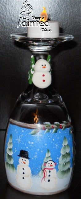 Snow Couple Candle Holders