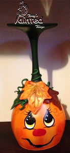 Pumpkin Face Candle Holder
