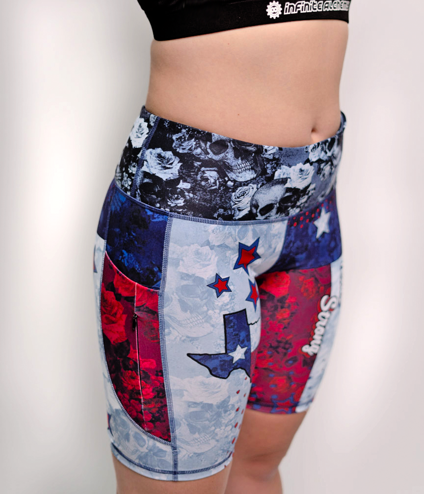 Women's MidLength Texas Strong Workout Short