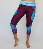 Blue/Purple Lace Workout Capris