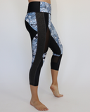 Women's Blue Zombie Workout Capris