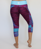 Women's Blue/Purple Lace Workout Capris