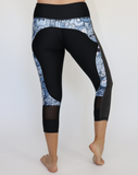 Blue Zombie Workout Capris