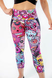 Women's Dia De Los Donuts Workout Capris