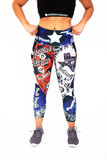 Women's Texas Graffiti Workout Capri