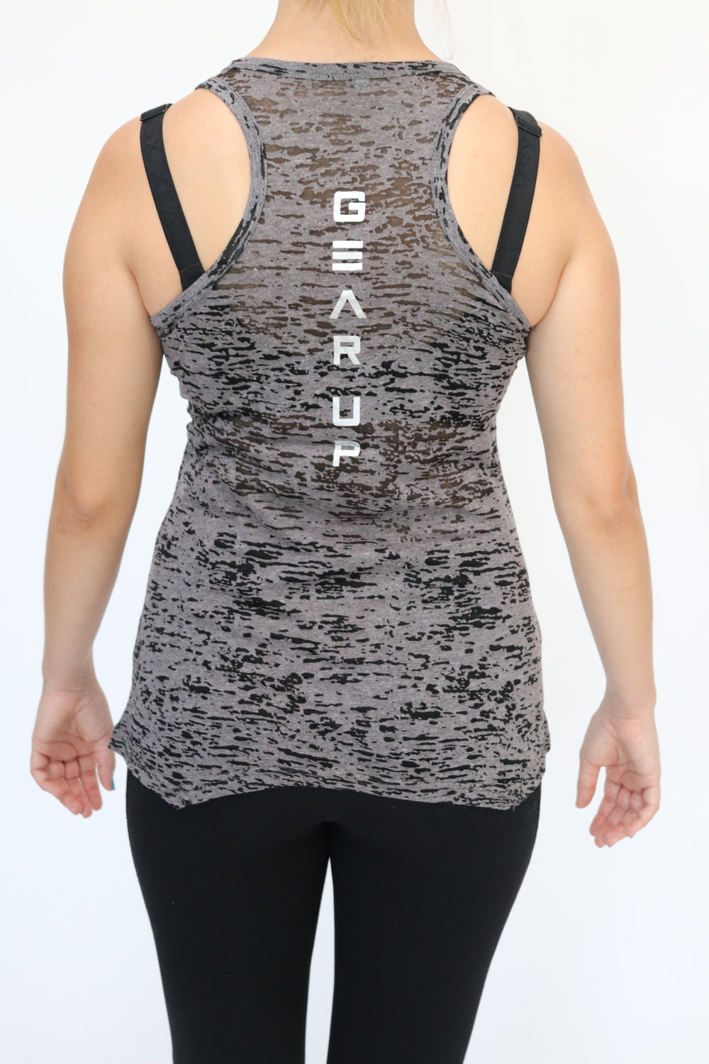 Women's Gunmetal Grey Burnout Tank