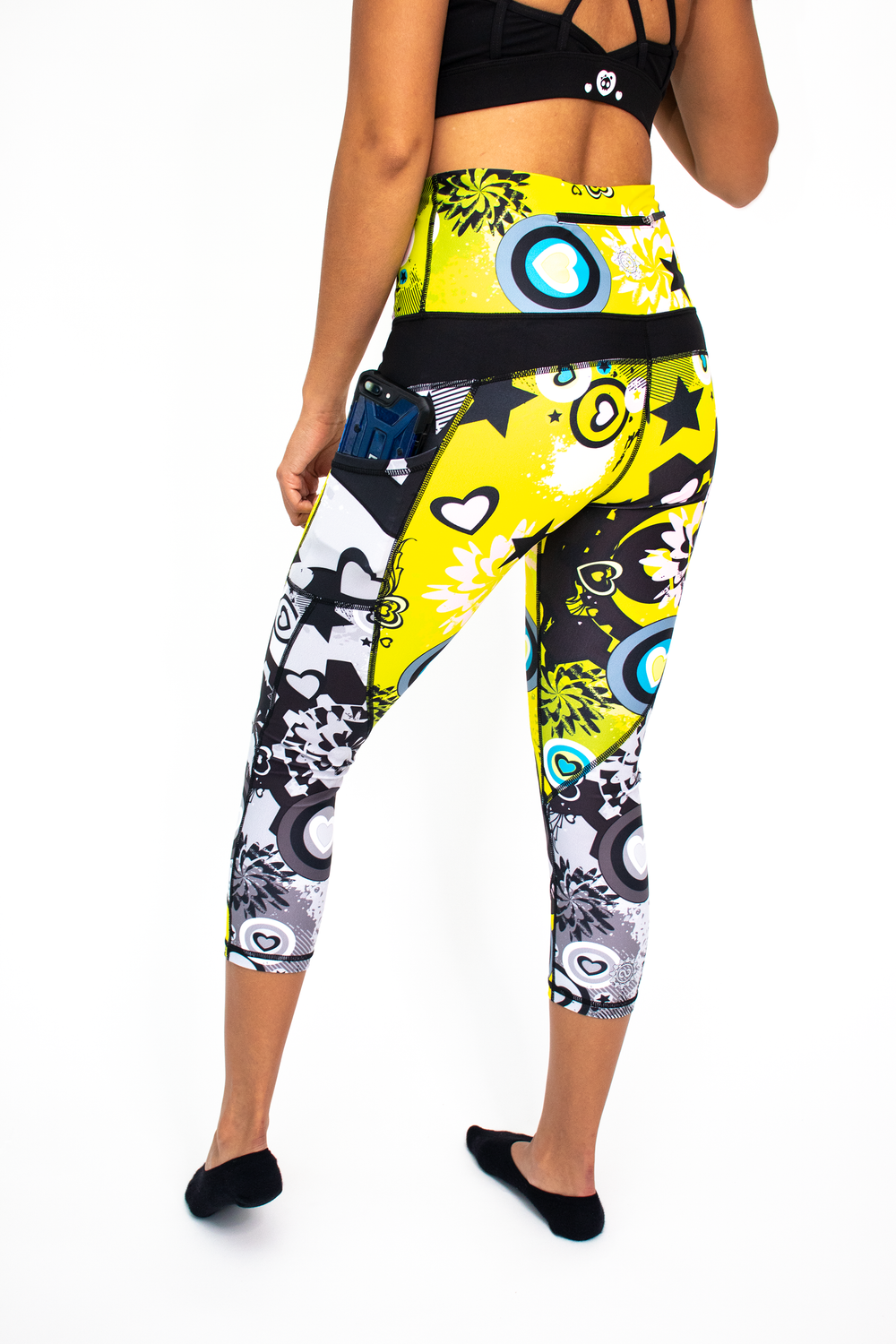 Women's Neon Space Cadet Workout Capri
