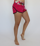 Pink Sugar Skull Workout Shorts