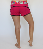 Women's Pink Sugar Skull Workout Shorts