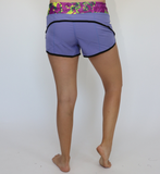 Women's Purple Camo Workout Short