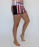 Women's American Flag Workout Shorts