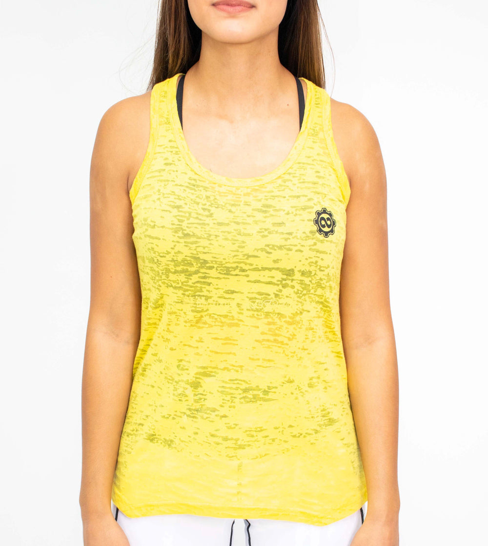 Women's Lemon Drop Yellow Burnout Tank