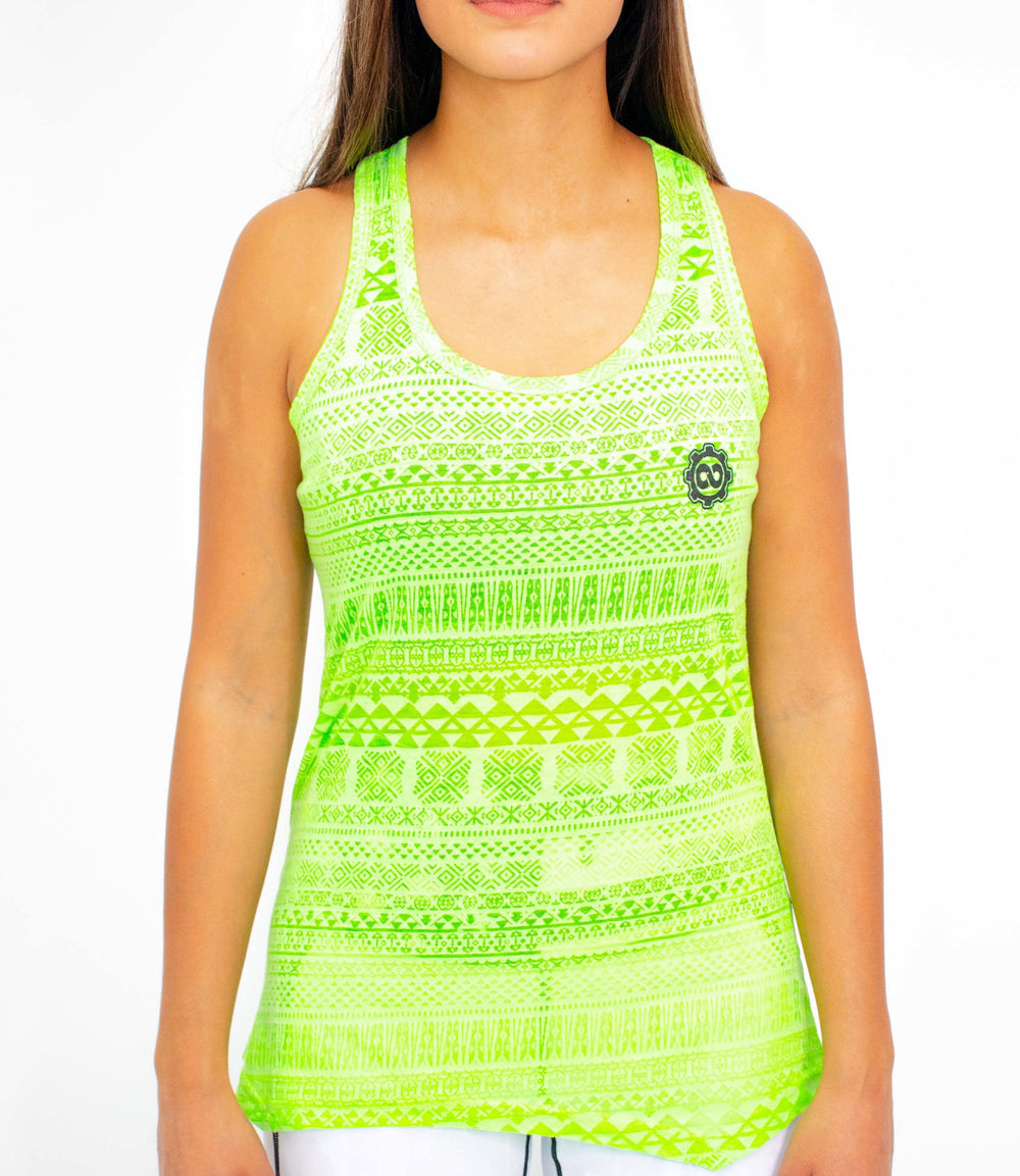 Women's Atomic Green Burnout Tank