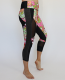Women's Pink/Green Zombie Workout Capris