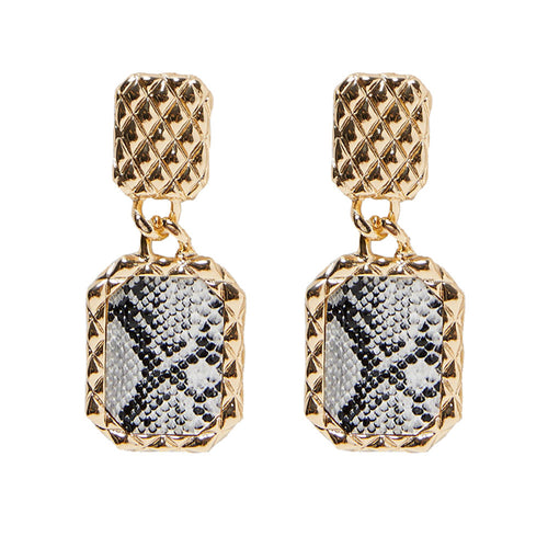 Pineapple Python Earrings
