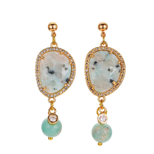 SeaFoam Gemstone Earrings
