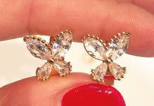 Load image into Gallery viewer, Sparkly Butterfly Earrings